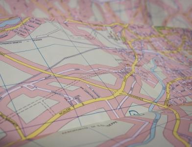 Paper road map