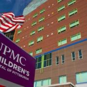 UPMC Children's Hospital of Pittsburgh exterior signage-Penn Avenue